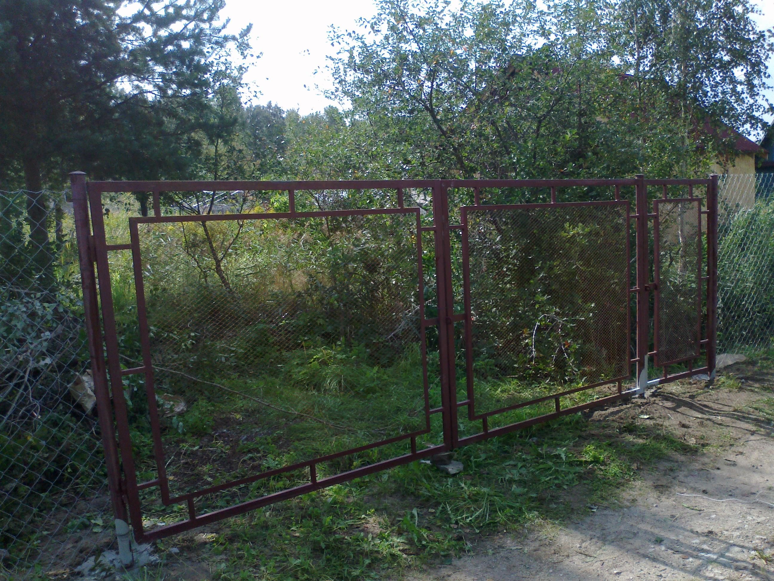 Ворота и калитка из сетки